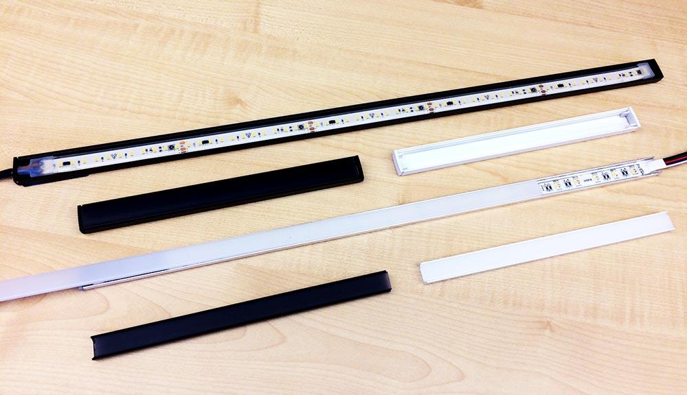 Nuovi profili in alluminio PR101 e PR115 per installare anche strip LED IP68 e 220V